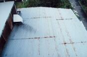屋根トタン張替え前